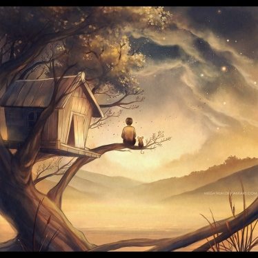 john_and_maus___tree_house__by_megatruh-d6v1koo
